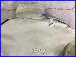 1940s WWII WW2 M1943 Field Jacket Military US Army Vintage M43 Original 32S
