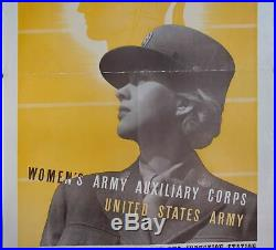 1942 This is Our War Join the WAAC Women's Army Auxiliary Corps WWII Poster