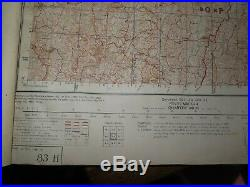 1944 WORLD WAR II ATLAS of BURMA MYANMAR for ARMY USE 93 HUGE MAPS RANGOON CHINA