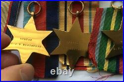 Australian Army WW2 Medal Group of Six Captain, Divisional Intelligence Unit