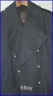 British Army Raf Great Coat Post Ww2 Wwii Royal Air Force Original Issue Airmen