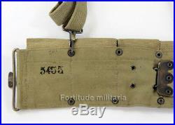 Ceinturon US M-1910 avec brelage US ARMY WW1-WW2 (matériel original)