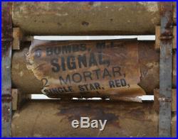 Container pour obus de mortier Anglais BRITISH ARMY WW2 (matériel original)