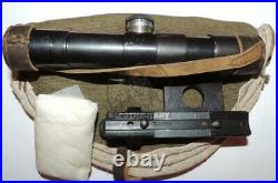 Early 1941 Soviet Wwii Pu Scope For Mosin Sniper Rifle Russian Army Original