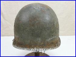#G65 Original US Army WW2 M1 Stahlhelm Helm Glocke ROT gebördelt + Lot number