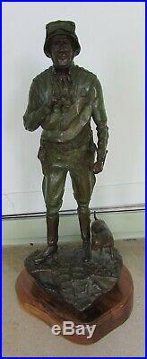 General George C. Patton ARMY GREEN WWII BRONZE SCULPTURE by AUSTIN DEUEL