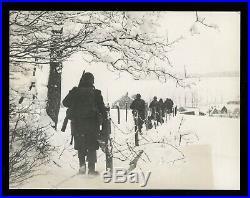 General Patton's 3rd Army Advances 1945 Lutrebois WWII Type 1 Original Photo