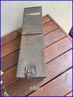 Genuine Australian Army WWII Issued Machine Gun Ammo Box Dated 1945