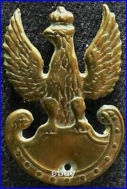 Genuine WW2 era POLISH Army Cap Eagle Badge Poland POLSKA Monte Cassino Battle 2