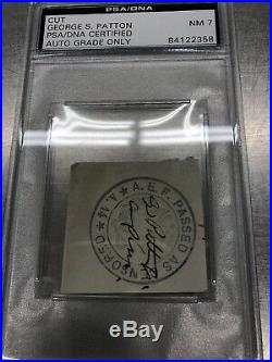 George S. Patton Jr. WWII U. S Army General Autograph Signed Museum Display PSA