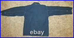 HTF US Army Denim Shirt 1930's Denim Popover PRE WW2 M1937 Denim Jacket 1940's