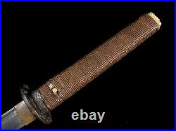 Japanese Army Officer Sword War Time Civilian Mounts Old Koto Grooved Blade WW2