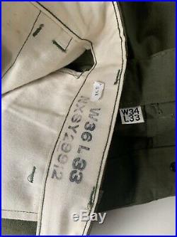 NOS Vintage 1940s WWII WW2, US ARMY, USN, HBT Pants