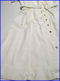 Named Original WWII US Army WAC Womens Hospital Uniform Dress Nurse Poplin White