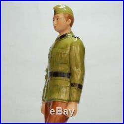 Nymphenburg German soldier figure in uniform of Army sergeant school WWII 1941