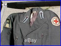 ORIGINAL SCARCE WWII RED CROSS NURSE UNIFORM With 1ST ARMY SERVICE OVERSEAS
