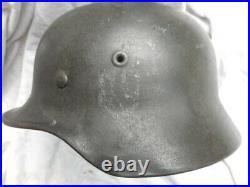 ORIGINAL WW2 GERMAN ARMY m40 STEEL COMBAT HELMET decal removed ET64 GENUINE