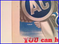 ORIGINAL WWII You Can Have Silver Wings AAF Army Air Corps Fischer WW2 Poster