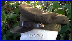 Old Vintage US WW2 1940s era Army Air Forces Pilot's Crusher Cap Visor Hat USED