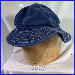 Original 1930s WWII US Army Denim Daisy Mae Hat Ex Cond