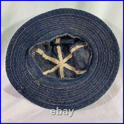 Original 1930s WWII US Army Denim Daisy Mae Hat Ex Cond No Wash