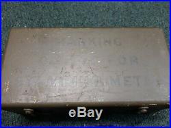 Original 1942 WWII U. S. Army Field Metal Stamping Dog Tag Mess Kit Punch Set