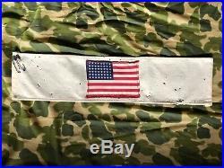 Original Brassard WWII Invasion Armband US 48 Star Flag Army Paratrooper USA
