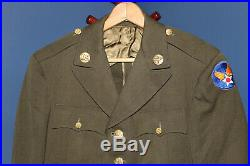 Original Early WW2 U. S. Army Air Forces Patched Uniform Jacket, Named & 1942 d