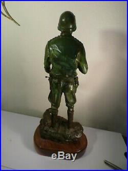 Original General Patton ARMY GREEN WWII BRONZE SCULPTURE by AUSTIN DEUEL