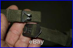 Original Late WW2/Korean War Front Seam OD U. S. Army M1 Helmet withPara Chinstraps
