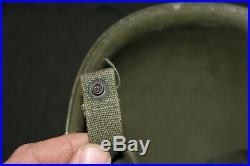 Original Late WW2/Korean War Front Seam U. S. Army M1 Helmet withPara Straps, Named