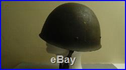 Original Swedish M37 WWII WW2 Military Army Era Helmet With Liner