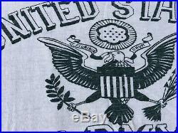 Original Vtg WW2 WWII 1940s 1950s US Army T-Shirt 13 Button Crest Flock