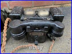 Original WW2 British Army MkII Mk2 Field Telephone 1940 Dated
