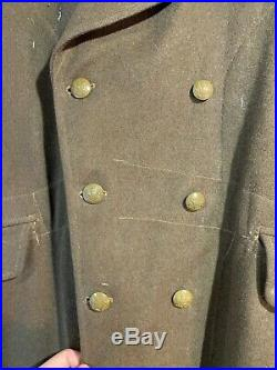 Original WW2 British Army Officers Greatcoat Economy Buttons Found Normandy