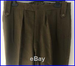 Original WW2 British Army REME Service Tunic With Trousers 1943