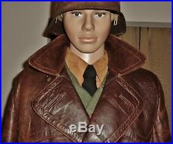 Original WW2 German Army Overcoat Luftwaffe Greatcoat Elite Uniform Trench Coat