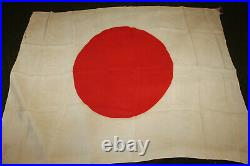 Original WW2 Imperial Japanese Army Soldiers Linen Fla g withTies, 38 by 29