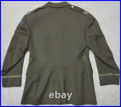 Original WW2 MINNESOTA STATE GUARD US ARMY OFFICER CHOCOLATE UNIFORM JACKET