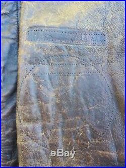 Original WW2 US Army Air Corps A-2 Leather Jacket Size 40R MFG Aero Leather