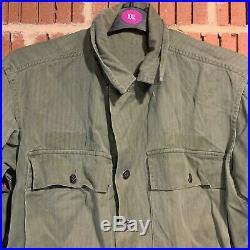 Original WW2 US Army HBT Fatigue Shirt (Gas Flap Model)