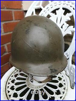 Original WW2 US M1 FRONT SEAM STEEL HELMET US ARMY