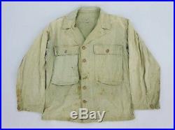 Original WW2 WWII US Army 2nd pattern Herringbone Utility Shirt. XL 46 chest