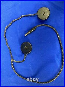 Original WW2 WWII US Army Signal Corps R-14 Radio Headset for the Tanker Helmet