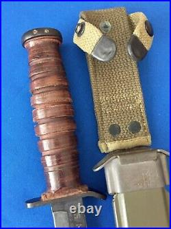 Original WWII 2 Camillus U. S. M3 Fighting Knife M8 BMCO scabbard Army Military