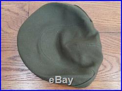 Original WWII ANC Army Nurse OD Service Hat (Size 22 1/2) Women's Uniform Cap