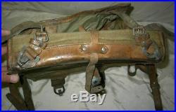 Original WWII German Ally Bulgarian royal army backpack rucksack, stamp 1942