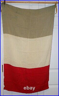 Original WWII Italian RSI Fascist Army Battle Flag