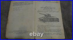 Original WWII Operating Manual Red Army soviet tank T34 1944 wartime book