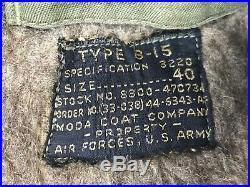 Original WWII US Army Air Forces B-15 Flight Jacket